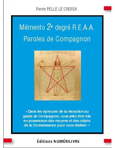 Mémento 2° degré REAA - PAROLES DE COMPAGNON