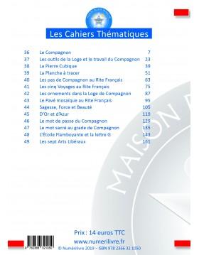 Cahiers Thématiques du Rite Français : Grade de Compagnon - Sommaire