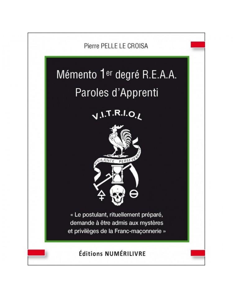 Couverture - Mémento 1° degré REAA - Paroles d'apprenti - V.I.T.R.I.O.L. - (ebook)