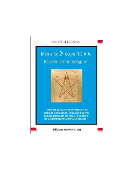Couverture Mémento 2° degré REAA - PAROLES DE COMPAGNON (ebook)