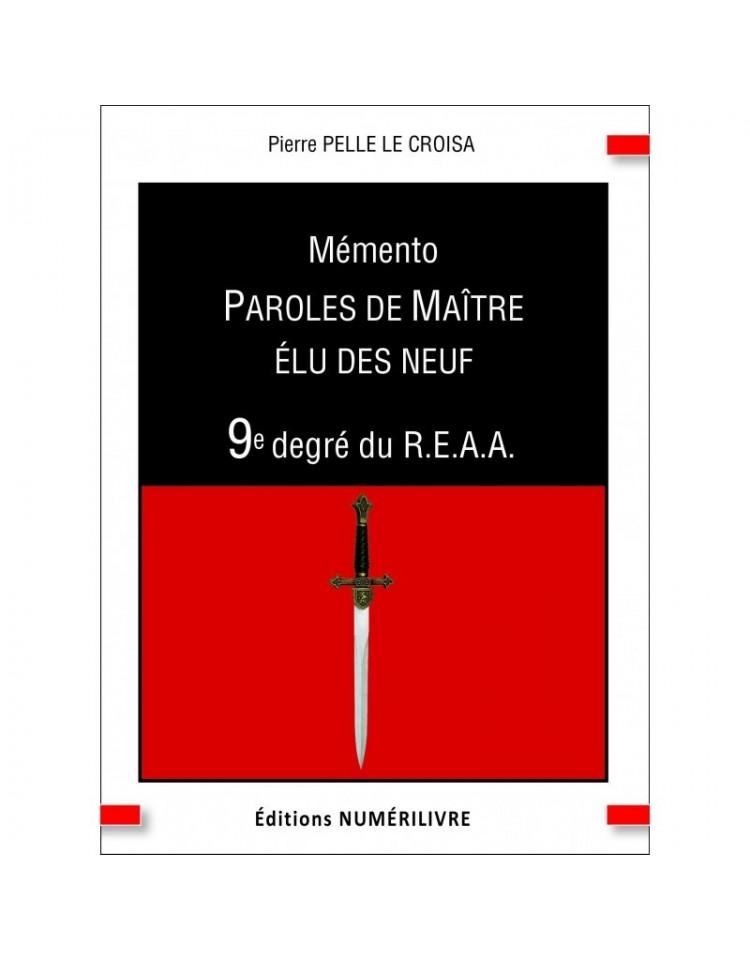 copy of Mémento 1° degré REAA - Paroles d'apprenti - V.I.T.R.I.O.L. - ePub