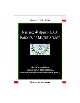 Couverture Mémento 4° degré REAA  - Paroles de Maître Secret