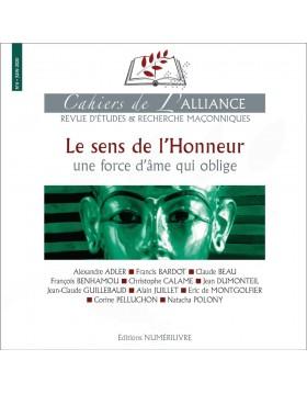 Couverture Les cahiers de l'Alliance N°6 - Le sens de l'honneur